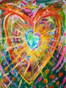 Heart of inspirational light